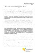 UN Humanitarian Appeal 2011 - Global Humanitarian Assistance - Page 3