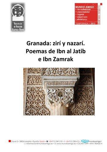 Granada: zirí y nazarí. Poemas de Ibn al Jatib e Ibn Zamrak