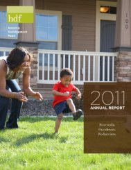 2011 Annual Report - HDF: Housing Development Fund, Inc.
