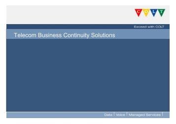 Telecom Business Continuity Solutions