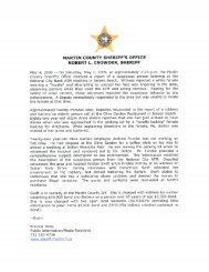 May 2009 Press Releases - Martin County