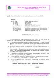 Compte rendu du comité de pilotage technique du 19 mars 2007