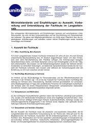 Minimalstandards und Empfehlungen zu Auswahl, Vorbe ... - Unité