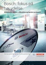 Bosch: fokus på høj ydelse.