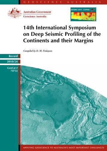 14th International Symposium on Deep Seismic ... - IGCP Project 559