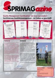 Quality Management Certification- we have succeeded ... - Sprimag