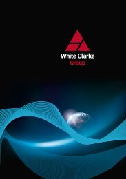 Your passport to a successful career with White Clarke Group