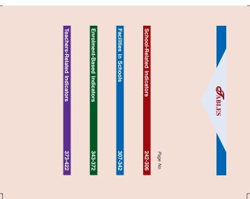 School-Related Indicators 242-306 Facilities in Schools 307 ... - DISE