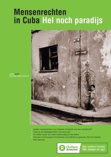 Mensenrechten in Cuba. Hel noch paradijs ... - Oxfam-Solidariteit