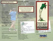 Golf Tournament - North Museum of Natural History and Science