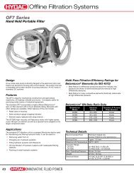 Offline Filtration Systems - HYDAC USA