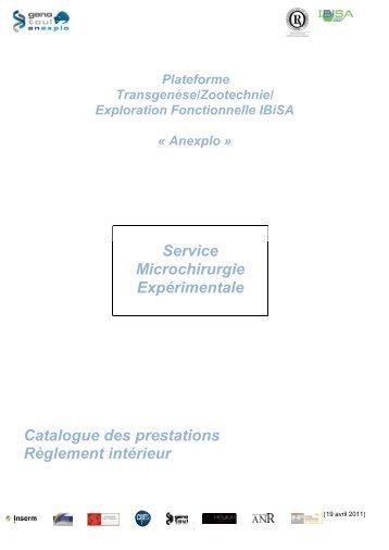 Règlement intérieur - Anexplo - Génopole Toulouse Midi-Pyrénées