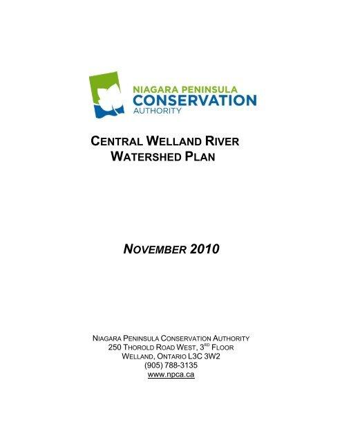 Central Welland River Watershed Plan - Niagara Peninsula ...