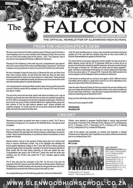 GLENWOOD NEWS LETTER 4TH TERM.pdf - Glenwood High School