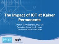 The Impact of ICT at Kaiser Permanente - World of Health IT