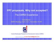 FP7 proposals, Why not accepted?