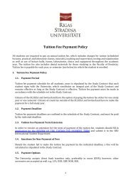 Tuition Fee Payment Policy