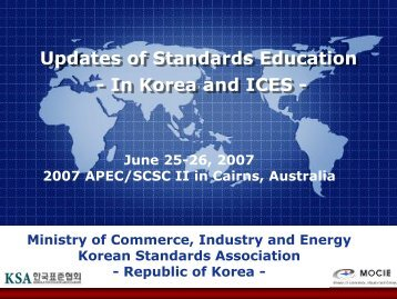 ICES - APEC Standards Education Initiative