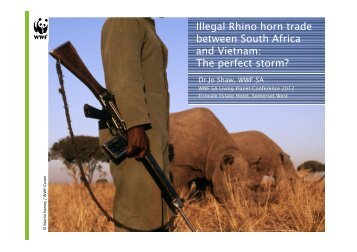 Illegal Rhino horn trade between South Africa ... - WWF South Africa