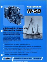 a lightweight, lOW 58hp marine engine - Westerbeke