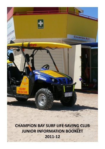 champion bay surf life saving club junior information booklet 2011-12