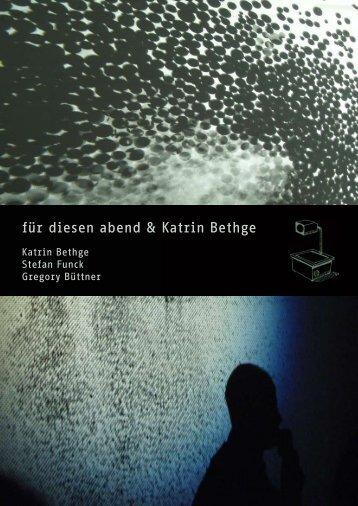 für diesen abend & Katrin Bethge - Tausend-Fuessler