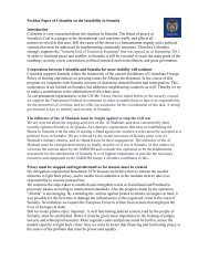 Position Paper of Colombia on the Instability in Somalia ... - ViaMUN
