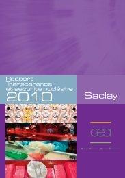 Saclay, Rapport Transparence et sécurité nucléaire ... - CEA Saclay