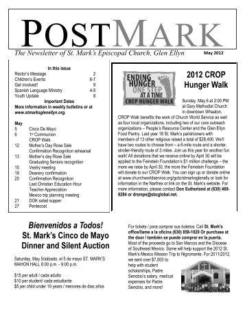 PostMark Newsletter May2012 - St. Mark's Episcopal Church