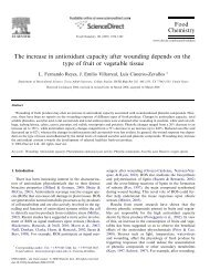 The increase in antioxidant capacity after wounding depends on the ...