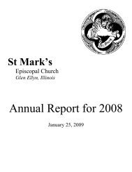 Annual Report for 2008 - St. Mark's Episcopal Church