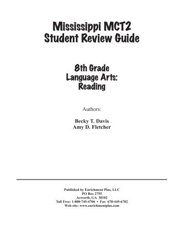 Mississippi MCT2 Student Review Guide - Enrichment Plus