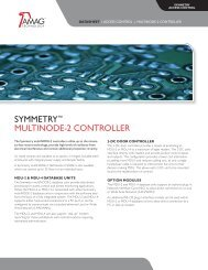 sYmmetrY™ multinoDe-2 controller - AMAG