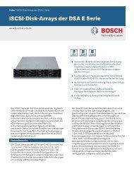 iSCSI-Disk-Arrays der DSA E Serie - Bosch Security Systems