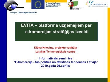 EVITA – platforma uzņēmējiem par e-komercijas stratēģijas izveidi