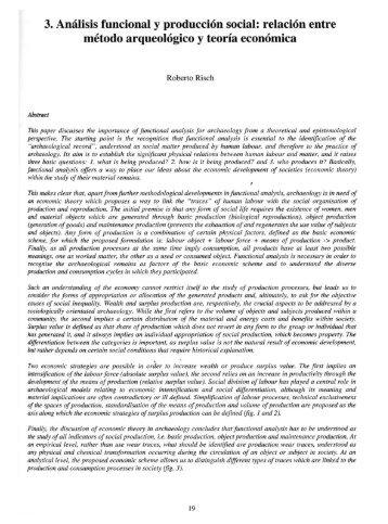 3. Análisis funcional y producción social: relación entre método ...