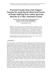 Practical Consideration of the Support Function for ... - Nectec