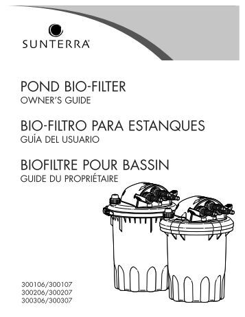 pond bio-filter bio-filtro para estanques biofiltre pour bassin
