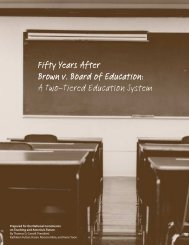 Fifty Years After Brown v. Board of Education - National Commission ...