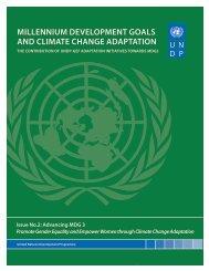 MILLENNIUM DEVELOPMENT GOALS AND ... - Gender Climate