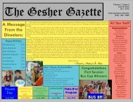 Issue 4 - July 20, 2012 - Gesher Summer Camp