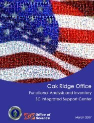 Functional Analysis and Inventory SC Integrated Support Center