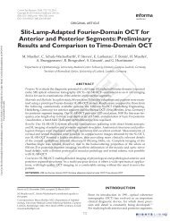 Slit-Lamp-Adapted Fourier-Domain OCT for Anterior and Posterior ...