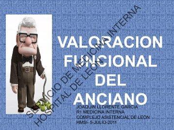 valoracion funcional del anciano - Servicio de Medicina Interna del ...