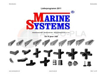 Lieferprogramm 2011 - Marine Systems