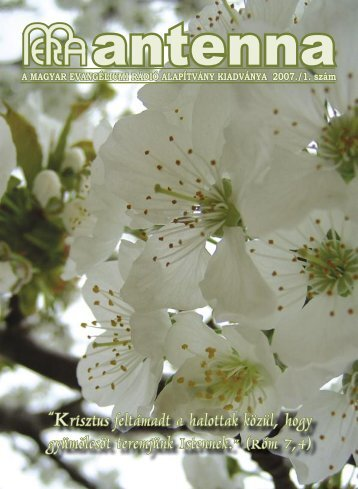 2007 1. szám - Magyar Evangéliumi Rádió