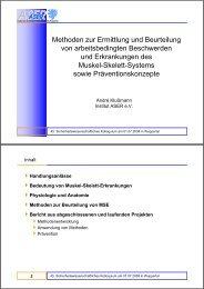 Methoden zur Ermittlung und Beurteilung von arbeitsbedingten ...