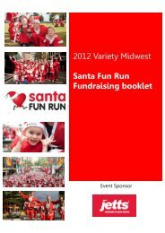 Santa Fun Run Fundraising booklet - Geraldton Variety Club