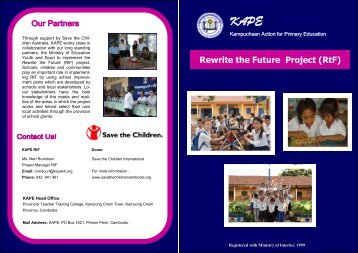 Rewrite the Future Project (RtF) - Kampuchean Action for Primary ...