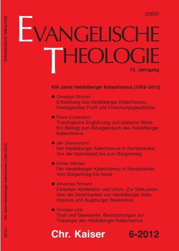 Theologische Engführung und biblische Weite - Heidelberger ...